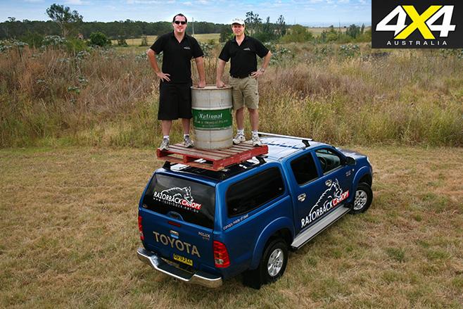 Razorback -canopy -holds -weight & Product test | Razorback Canopy | 4X4 Australia