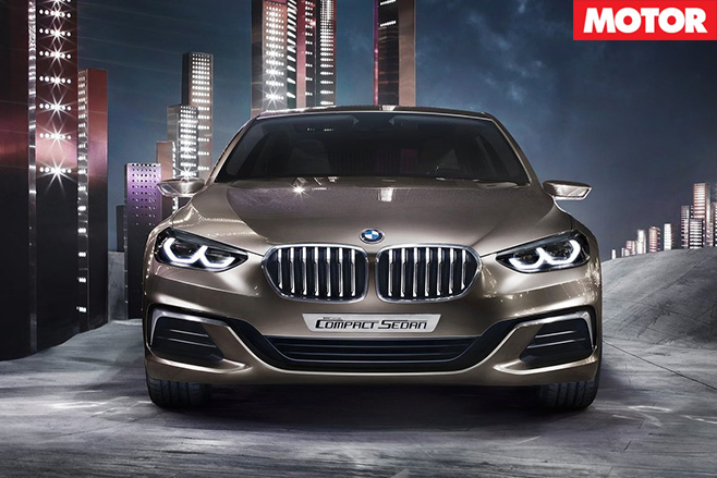 BMW Compact Sedan Concept front