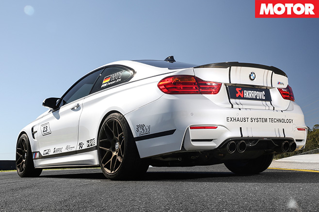 City performance bmw m4 rear