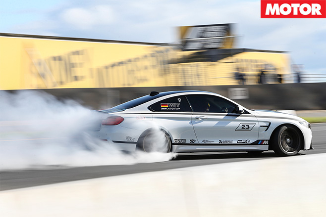 City performance bmw m4 burnout