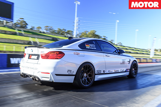 City performance bmw m4 start