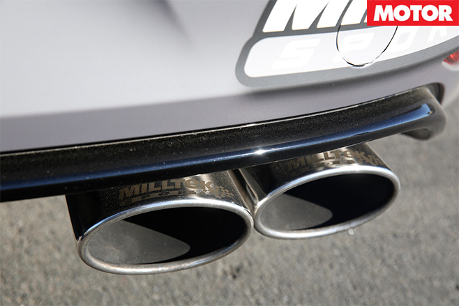 Harding volkswagen golf r exhaust