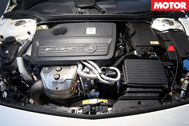 V-sport mercedes-benz a45 amg engine