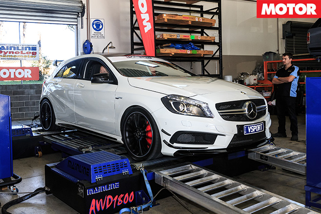V-sport mercedes benz a45 amg side