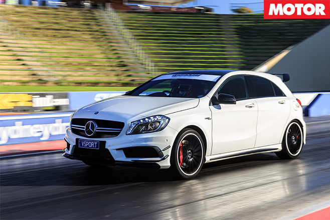 V-sport mercedes-benz a45 amg take off