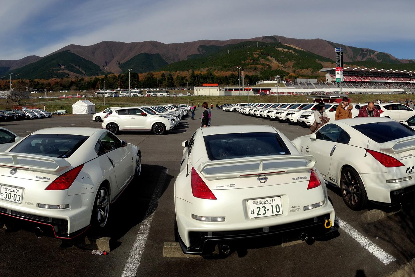 Nismo festival car park