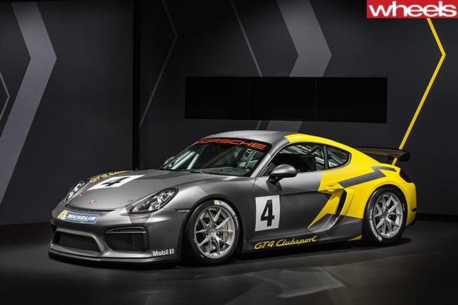 Porsche -Cayman -GT4-front -side
