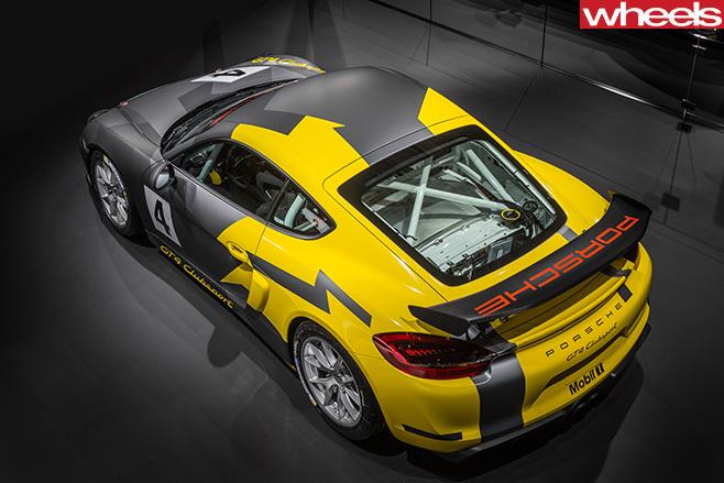 Porsche -Cayman -GT4-top -side -rear