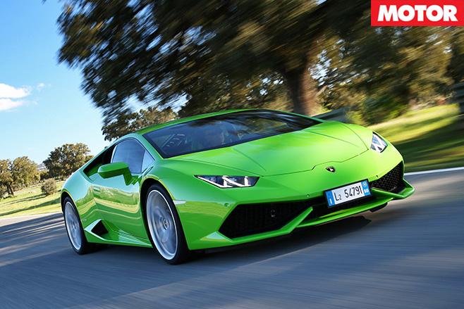 Lamborghini Huracan driving