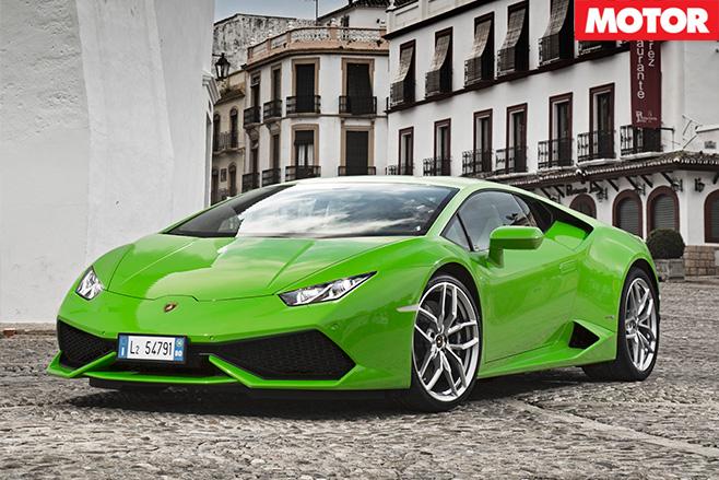 Lamborghini Huracan front sitting