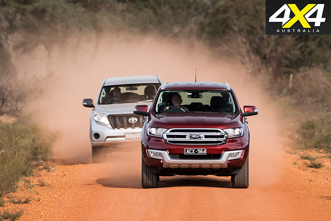 Ford everest v toyota prado 4