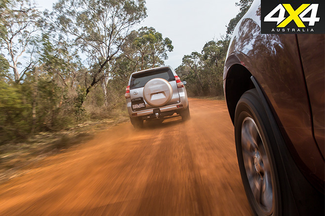 Ford everest v toyota prado driving 5