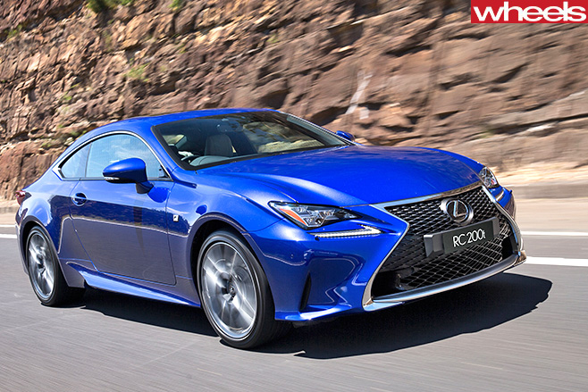 Lexus -RC200t -driving -front -side-
