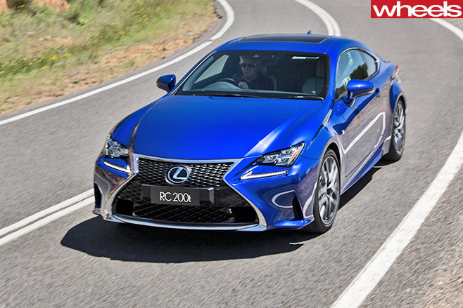 Lexus -RC200t -top -side