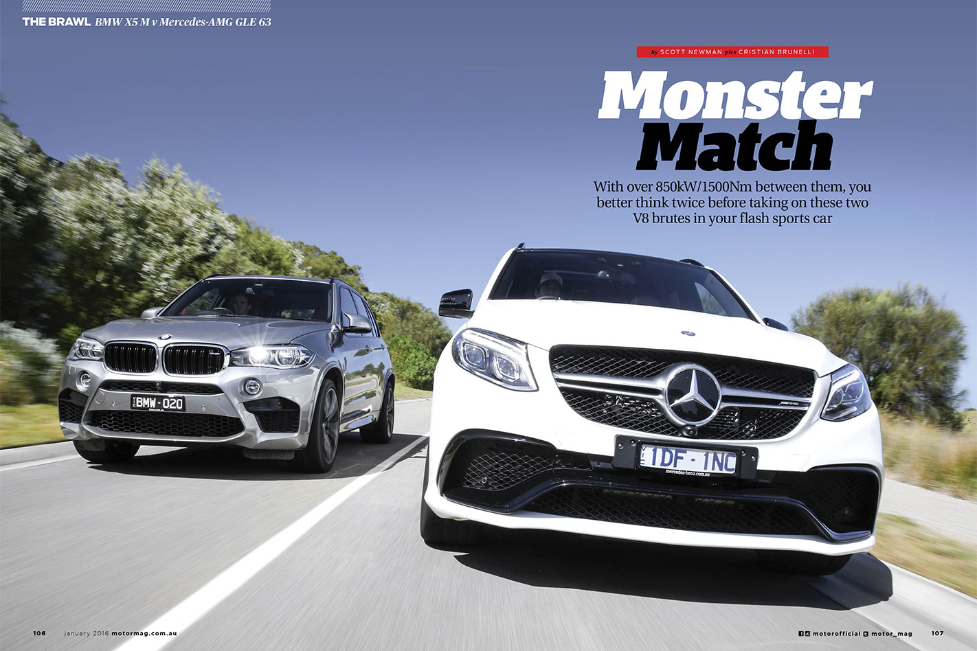 MOTOR-February -2016-BMW-X5-M-vs -Mercedes -AMG-GLE-63