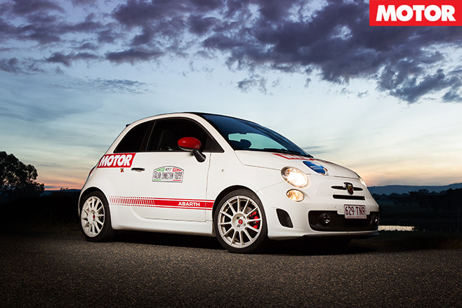 Abarth rally sunset