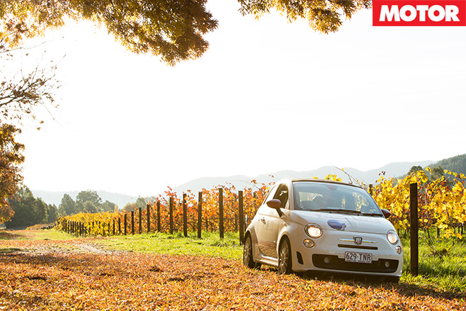Abarth rally vineyard