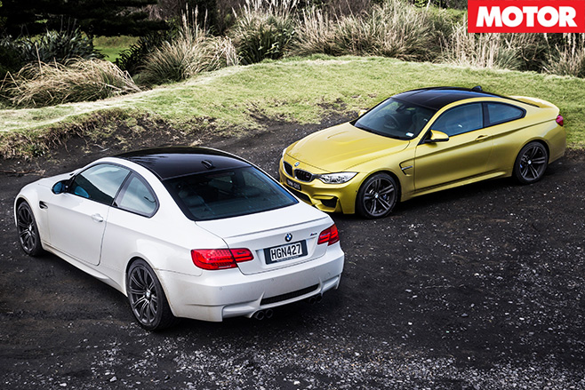 Bmw m4 vs bmw m3 rear top