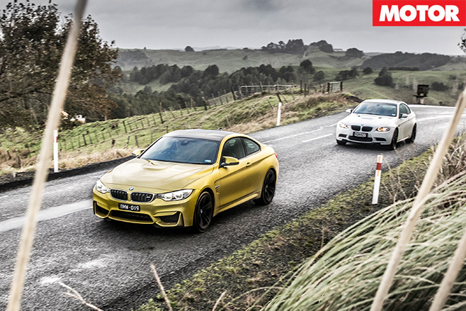 Bmw m4 vs bmw m3 driving