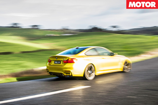 Bmw m4 driving fast