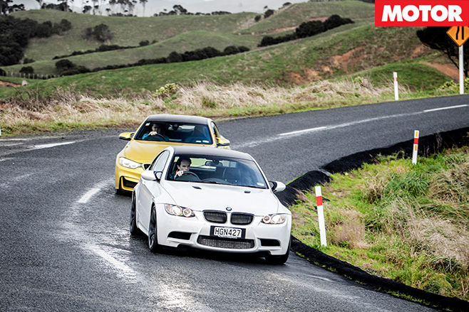 Bmw m4 vs bmw m3 cornering