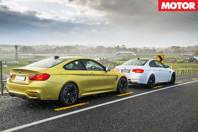Bmw m4 vs bmw m3 side