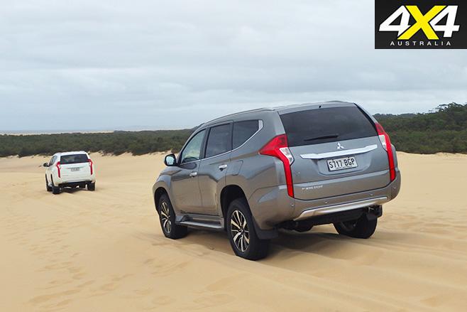 Mitsubishi -Pajero -Sport -rear -sand