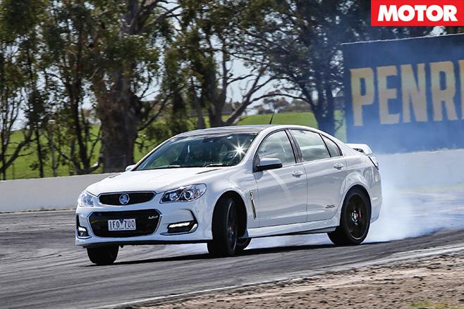 Holden VFII SS V Redline burnout