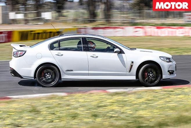 Holden VFII SS V Redline driving