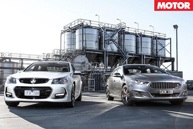 XR8 vs VF2 SS V Redline still