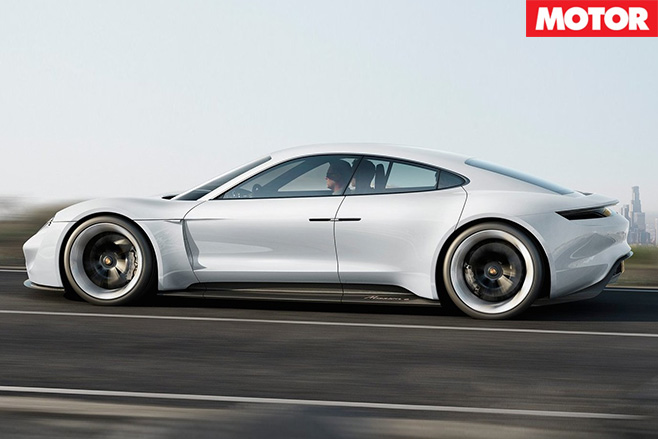 Porsche confirms Mission E side