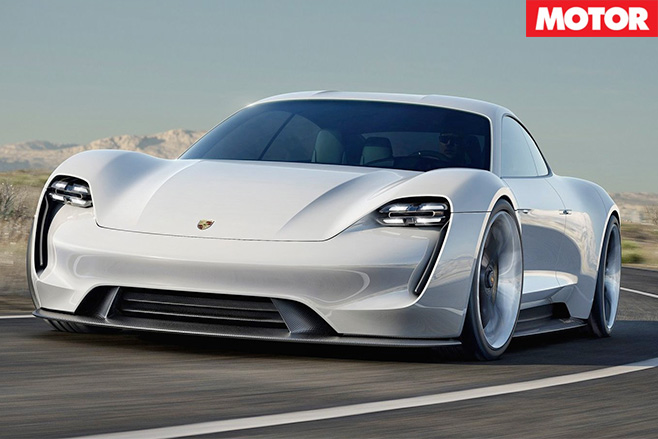 Porsche confirms Mission E front