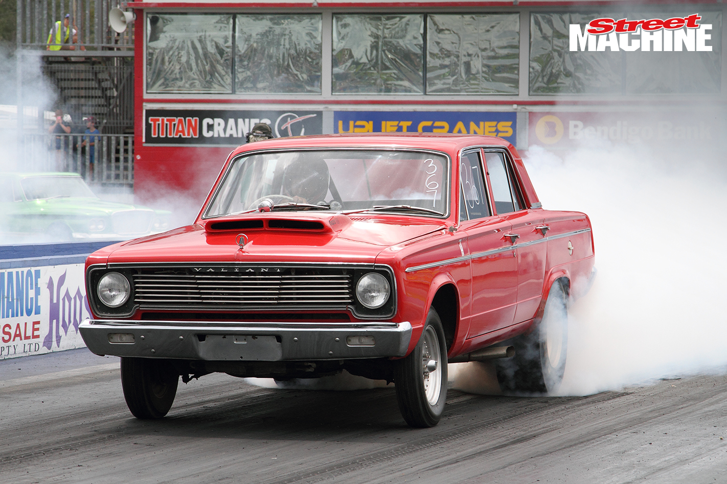 Chrysler Valiant Sedan Burnout