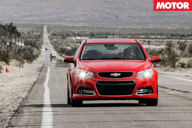 Chevrolet SS US driving front