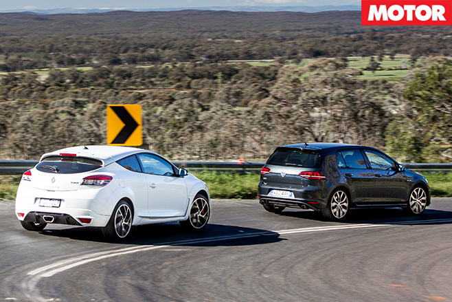 Megane RS265vs Golf GTi Performance rear