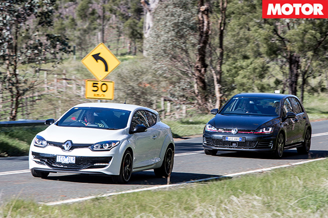 Megane RS265 vs Golf GTi Performance driving