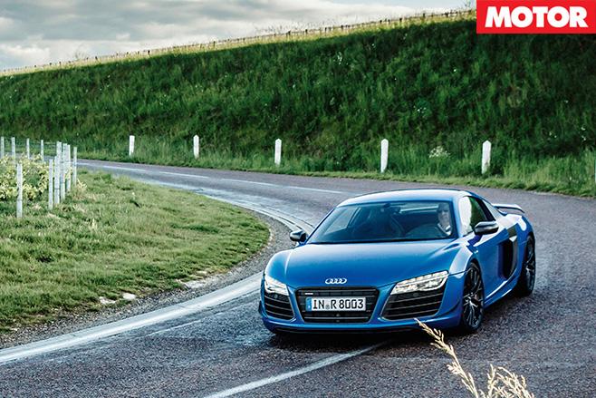 Audi R8 LMX driving