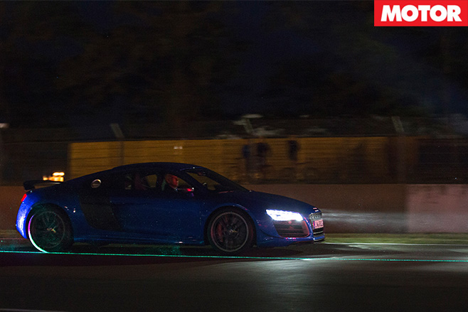 Audi R8 LMX lights driving