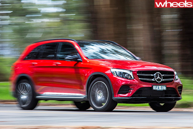Mercedes -Benz -GLC-front -side -driving -around -corner