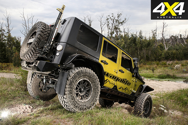 Custom jeep wrangler unlimited rear