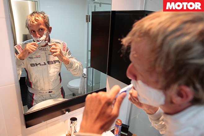 Luffy shaving