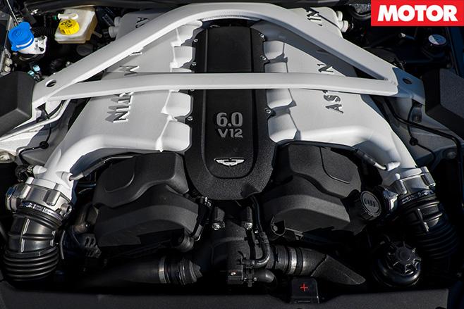 Aston Martin Vanquish S v12 engine
