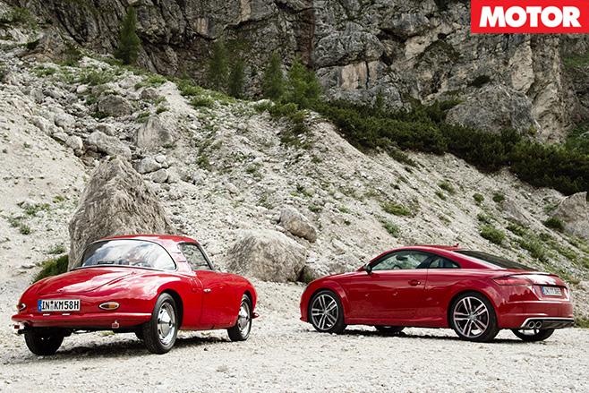 Audi tts vs dkw monza coupe rear