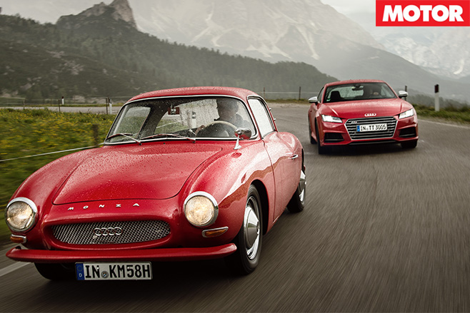Audi tts vs dkw monza coupe driving