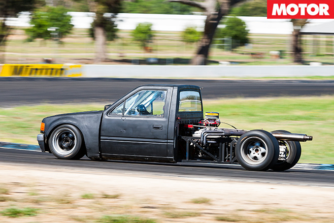 Mid engined Holden Rodeo track monster