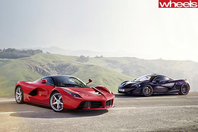 Mc Laren -vs -Ferrari -side