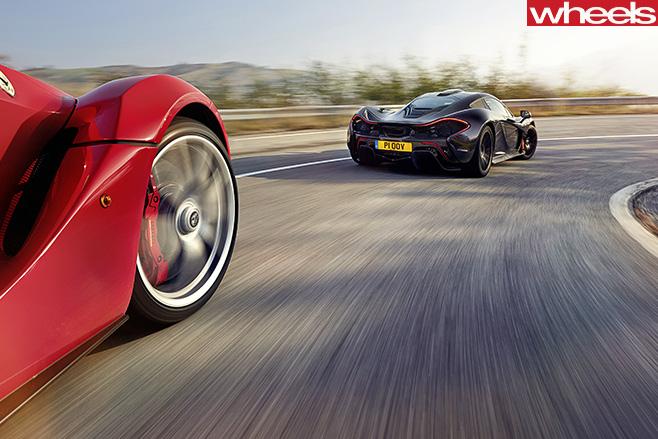 Mc Laren -vs -Ferrari -cornering