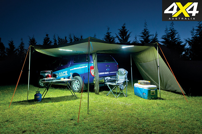 Camping lights using batteries
