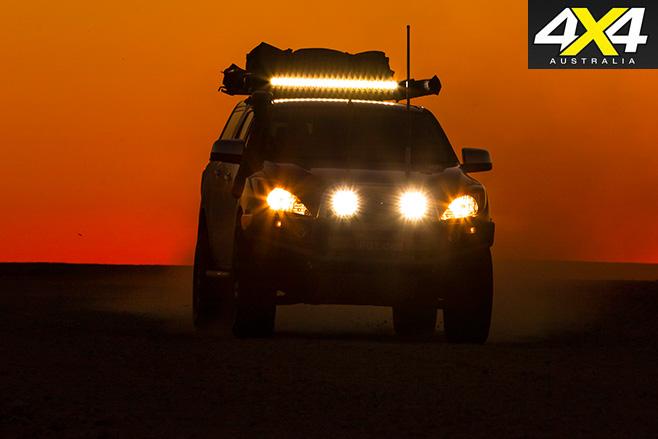 Car desert driving