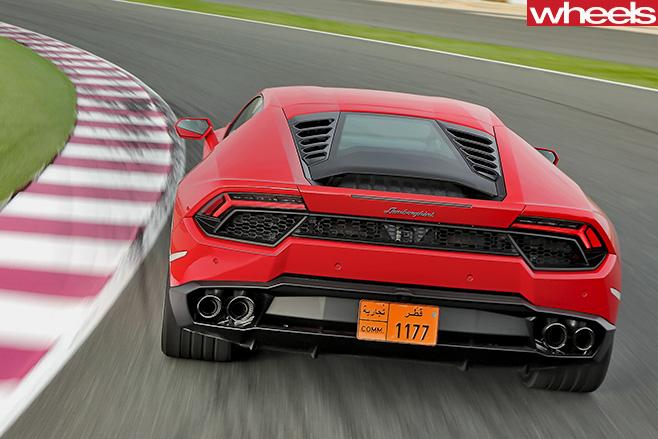 Lamborghini -Huracan -rear -red